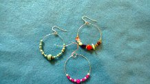 Examples of beaded hoop earrings