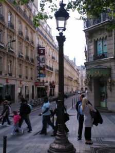Photograph taken of street in Paris